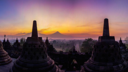 Visit glorious Borobudur in Indonesia at dawn - Savile Row Travel
