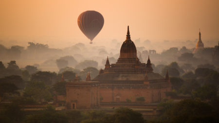 Soar over Myanmar's Bagan in a hot air balloon at dawn - Savile Row Travel