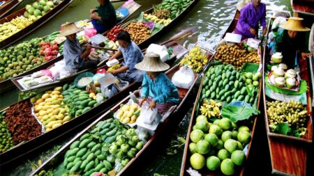 Browse Bangkok's floating markets for unusual food - Savile Row Travel