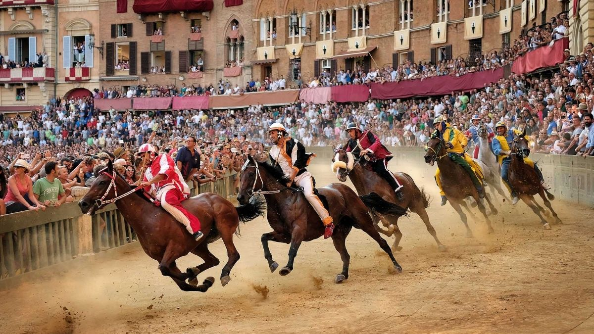 Palio horserace in Siena, Tuscany