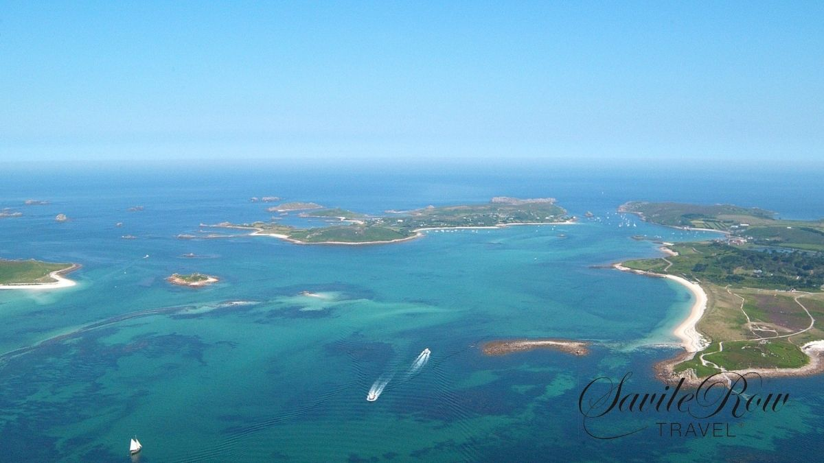 The Hell Bay Hotel Ariel View, Bryher, Scilly Isles