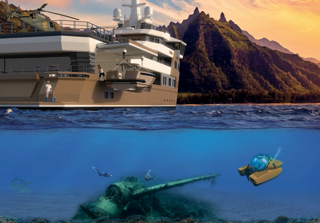 La Datcha Expedition Yacht Submersible