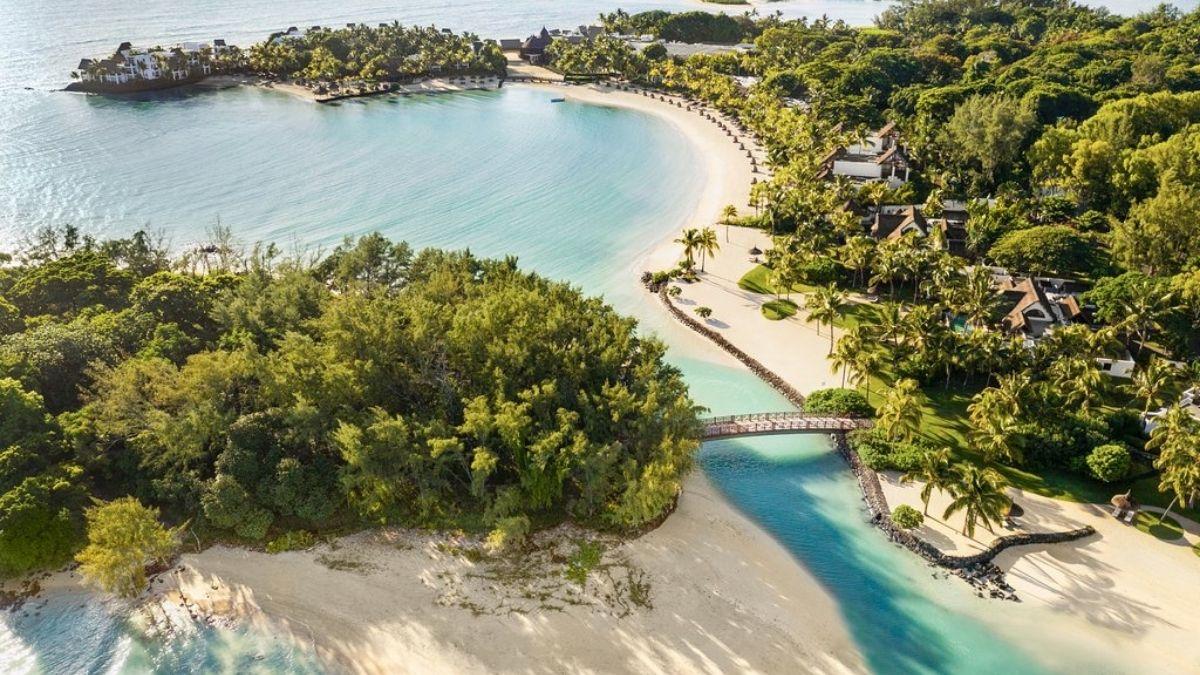 Shangri La Mauritius Ariel Beach