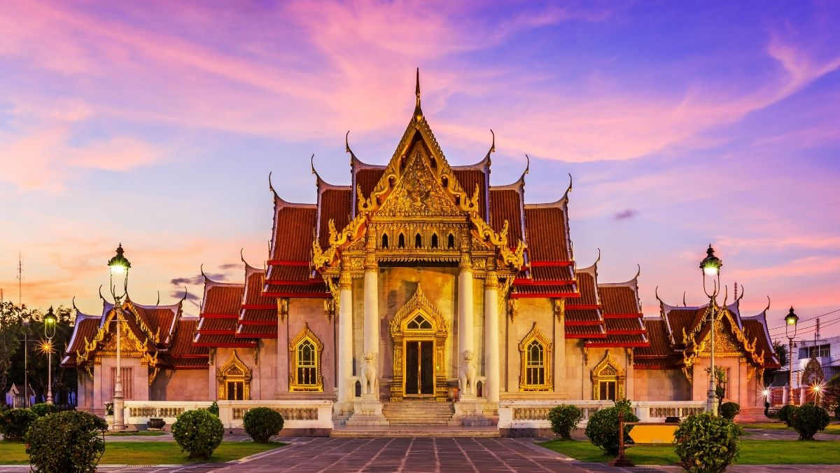 The Marble Temple Traditional Thailand