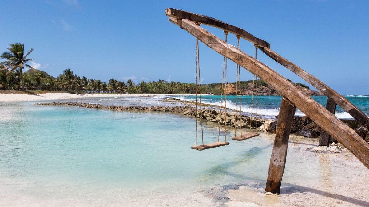 Palm Island St Vincent Grenadines Beach